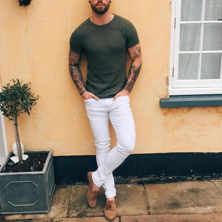 Men 39 s fashion instagram page suede shoes pants and for White pants denim shirt
