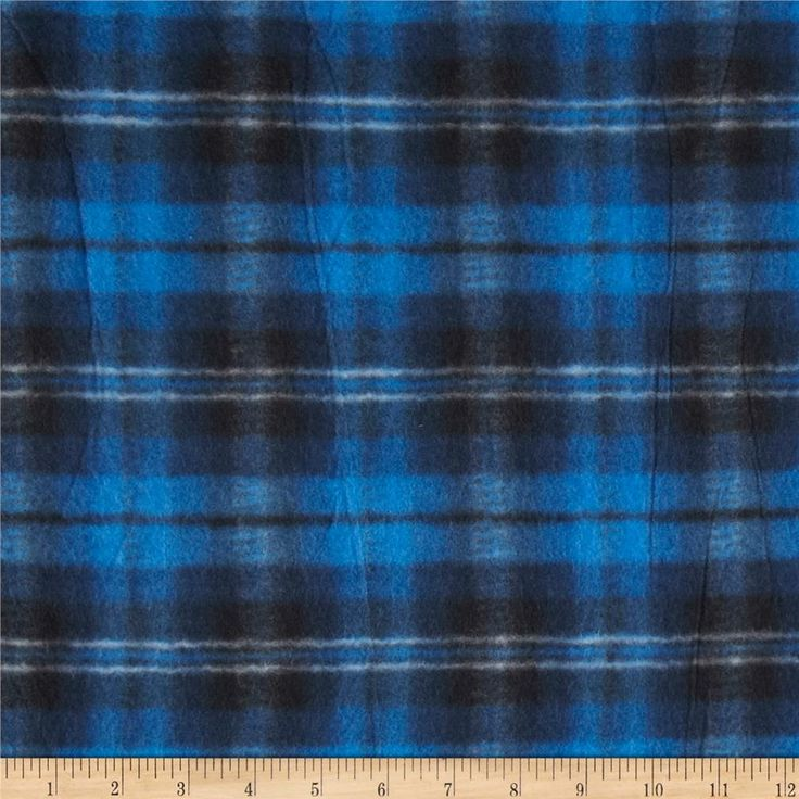 Printed Fleece Plaid Royal Blue/Black from @fabricdotcom  This medium weight fleece is anti-pill and ultra soft. It is perfect for creating jackets, vests, scarves, mittens, throws and more! Colors include blue, black, navy and white.  Remember to allow extra yardage for pattern matching.