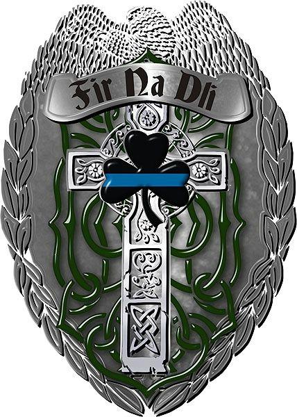 Police Shield Fir Na Dli Irish Cross Reflective Decal ...