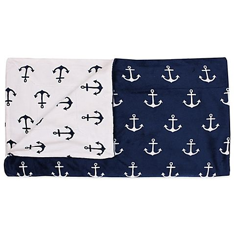 Retro Anchors Reversible Throw in Navy
