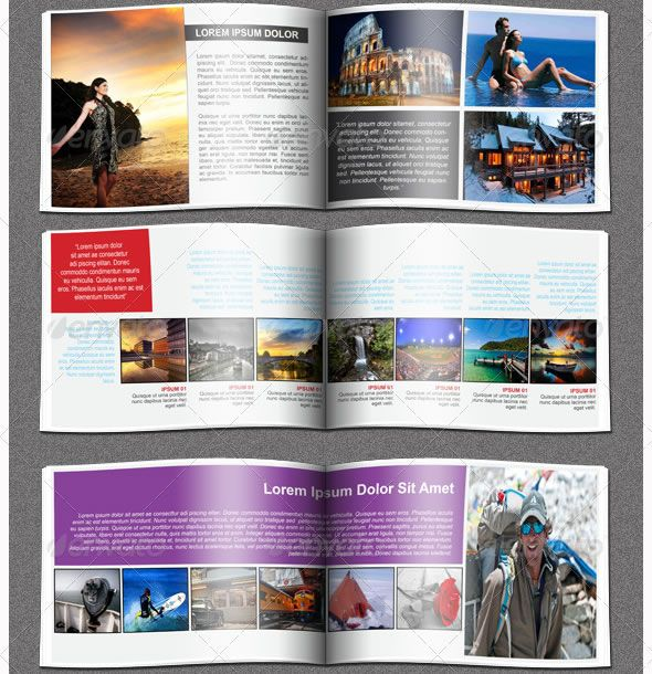 Traveller Booklet\/Catalogue Template booklet layout design - pamphlet layout