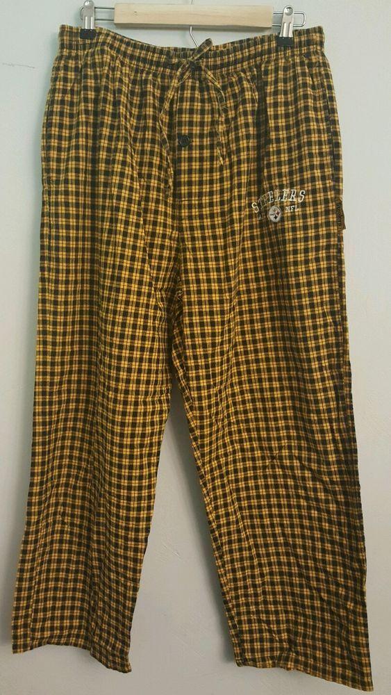 Men's NFL Steelers Black & Yellow Gold Plaid Drawstring Cotton Pajama Pants Sz L | Clothing, Shoes & Accessories, Men's Clothing, Sleepwear & Robes | eBay!