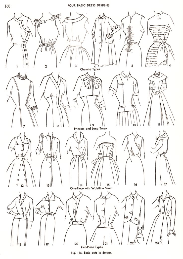 Loads of options from the 4 basic dress designs: Practical Dress Design Mabel Erwin