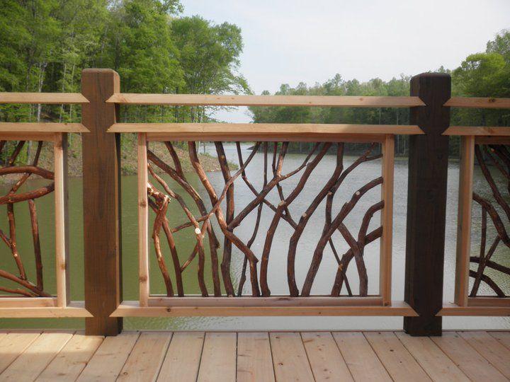 Rustic Deck Railings Wood Visit 100s of Deck Railing Ideas http://awoodrailing.com/2014/11/16/100s-of-deck-railing-ideas-designs/