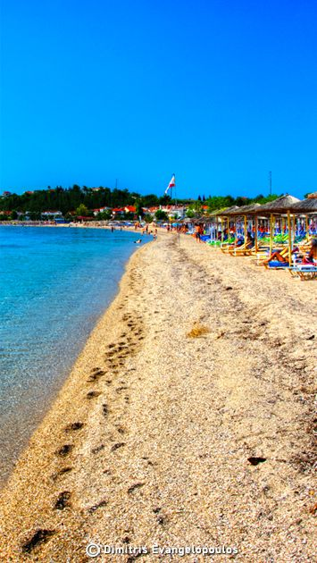 """The entire peninsula of Halkidiki Greece, is famous for its unique, """"cinematic"""" beaches! Nea Potidea beach in Kassandra #dreamingreece #halkidiki #greece #travel #travelguide #vacation #destination #beaches #greekbeaches"""