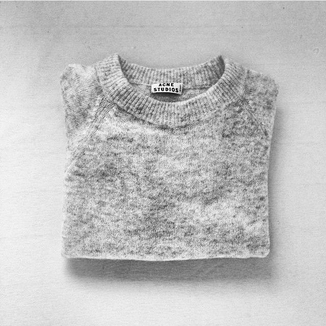 ACNE Studios marble knit.