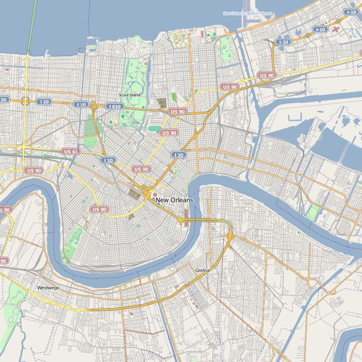 French Quarter Street Map Map Of French Quarter