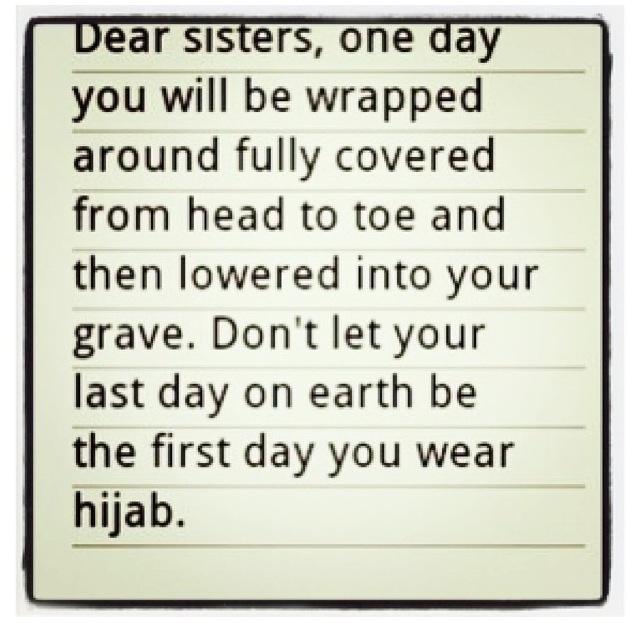 Hijab. Islam. Reminder :)