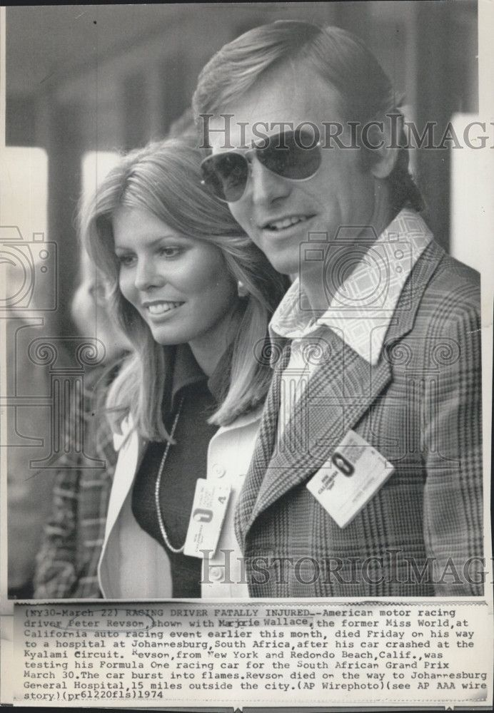 Former Miss World Marjorie Wallace Of Usa Here With Peter