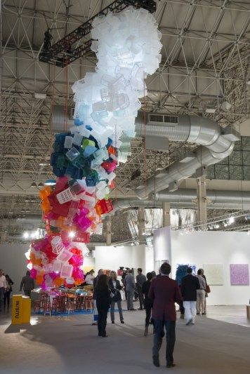 """Jessica Stockholder's """"Once Upon a Time"""" at Expo Chicago."""