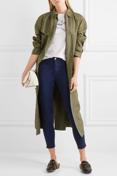 L'Agence - Margot Cropped High-rise Skinny Jeans - Navy - 24