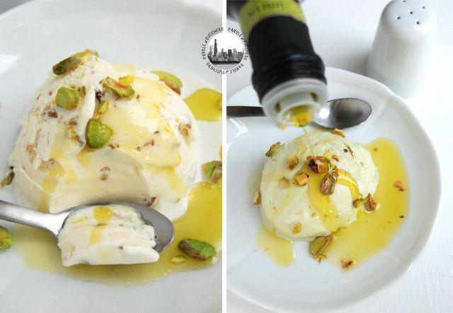 Pistachio Ice Cream with EVOO! Gelato al pistacchio con olio e sale!