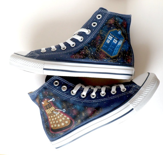 Doctor Who Converse - Dalek and Tardis.
