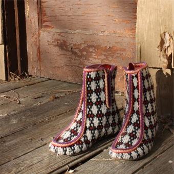 Vintage Bavarian Knit Boots