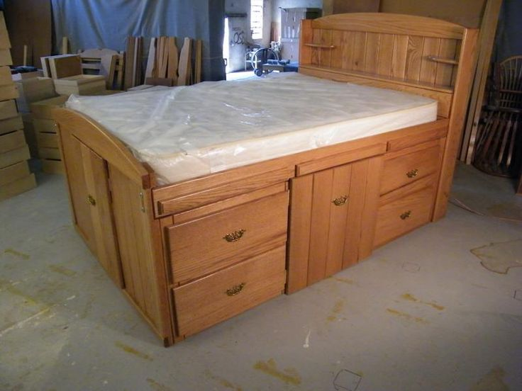 Best 25 bed with drawers underneath ideas on pinterest beds with storage bed frame with - Plans for platform bed with storage drawers ...