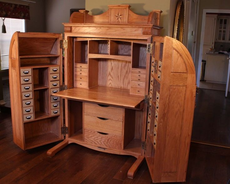 And it's handmade with the help of a Kreg Jig.  Not your average desk......