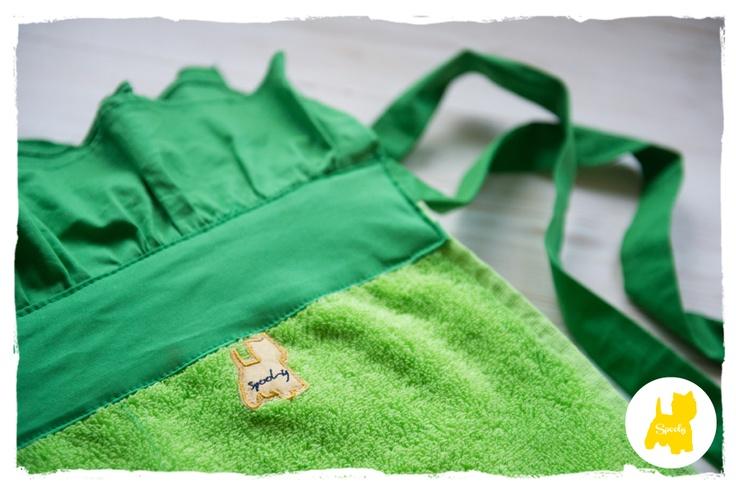Loud green #Spooly handmade #beachtowel © Vicky Lafazani