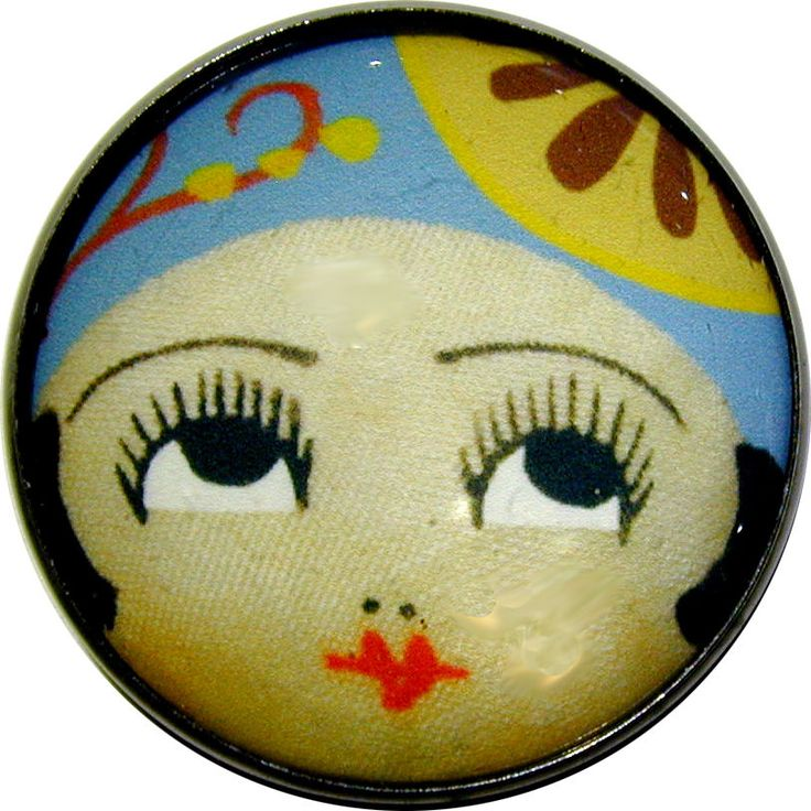 "Crystal Dome Button Roaring 20s Flapper Girl "" Amy "" 