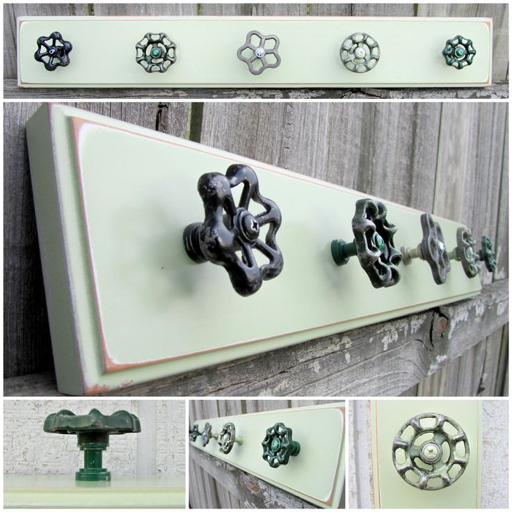Ready to Ship / 25 Coat Rack with Green Valve by TheDoorStop. $58.00 USD, via Etsy.