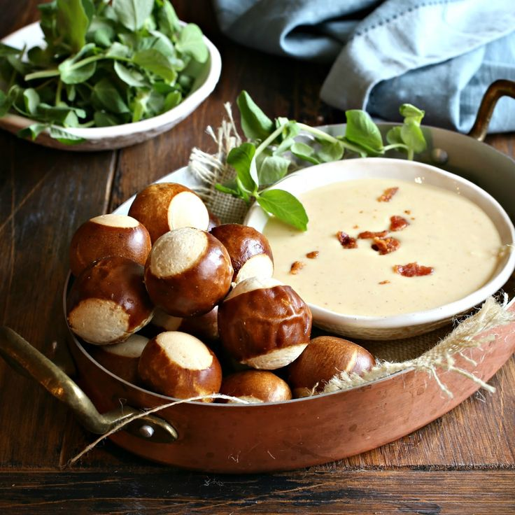 Smoked Gouda Pretzel Cheese Dip