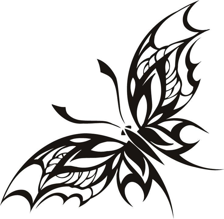 Moth Butterfly Tribal Animals Wall Stickers Wall Art Decals ... - ClipArt Best - ClipArt Best
