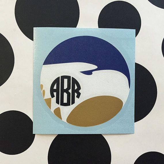 Monogrammed Georgia Southern Vinyl Decal - Sticker