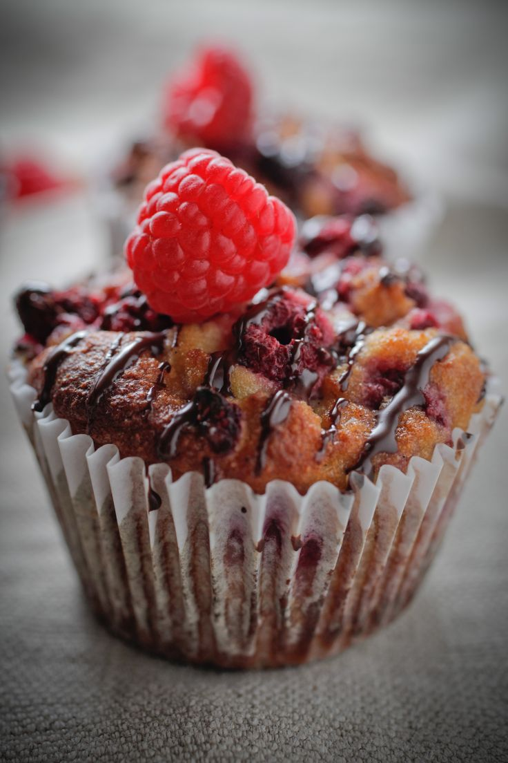 Choc + Rasberry Muffin - by the Healthy Chef