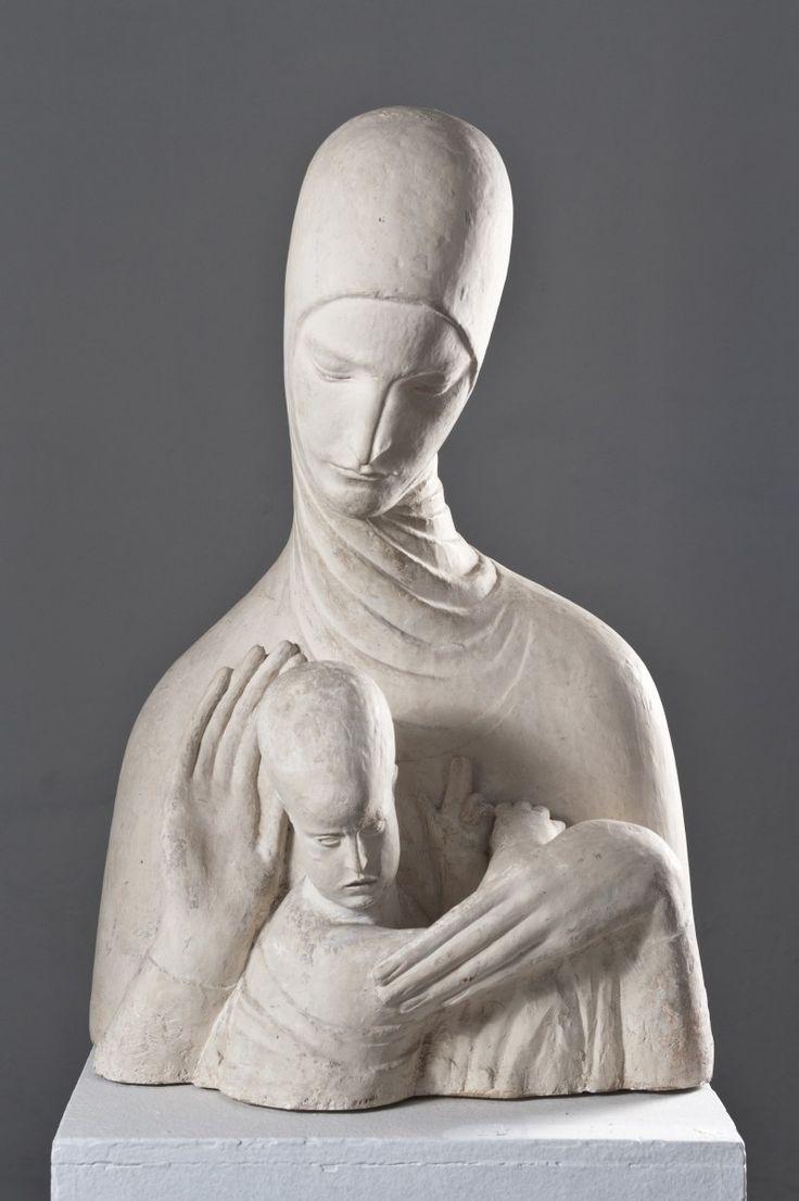 Bogorodica s Djetetom 1917 by Ivan Meštrović (Croatian 1883 –