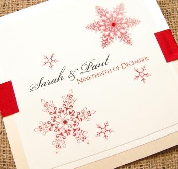 Snowflake Handmade Wedding Invitation