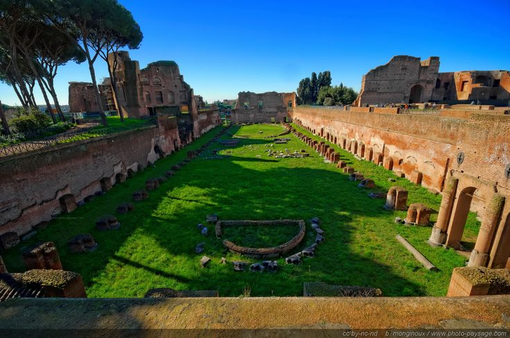 Stadio de la Domus Augustana, Palatine Hill, Rome, Italy