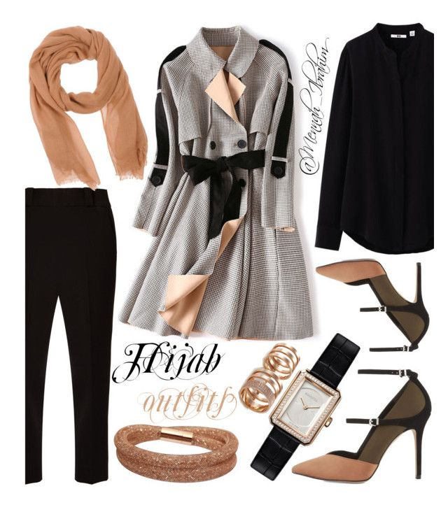 """#Hijab_outfits #modesty #Autumn"" by mennah-ibrahim on Polyvore featuring Uniqlo, The Row, Reiss, Chanel, Swarovski and Repossi"