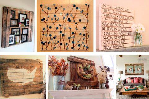 Best 25 cuadros con palets ideas on pinterest cuadros - Decoracion con palets ...