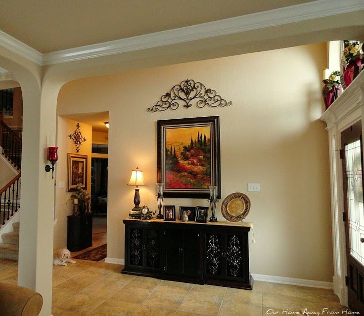 Entry Foyer Credenza : Amazing makeover of an old dresser to a beautiful tuscan