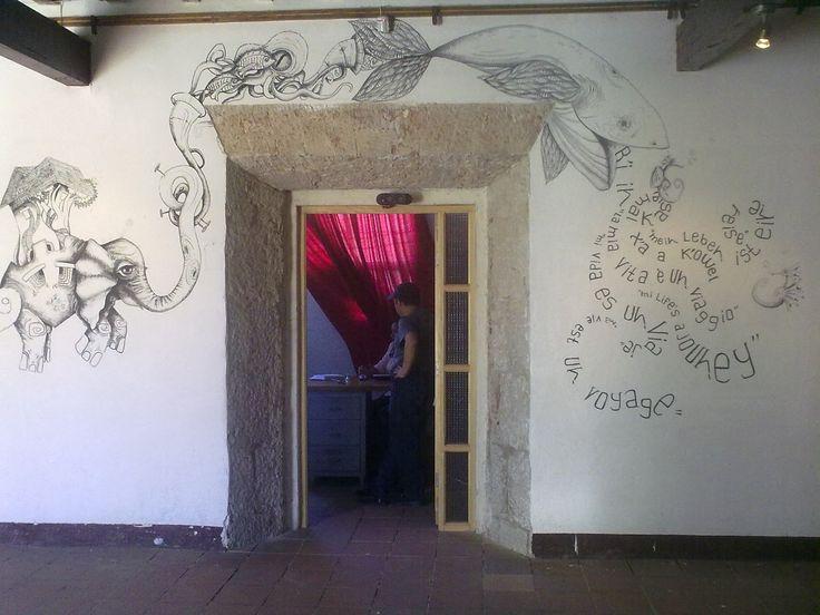 Centro Cultural Efrain Recinos Intervención Mural (exposición)