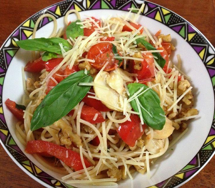 Capsicum Walnut Pasta