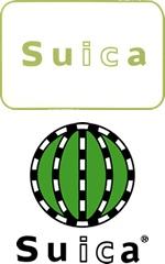 二重三重に意味がかかってて個人的には秀逸! 緑色もJR東日本のイメージカラーなんですね! 以下Wikipedia         『Suicaの名称は「super urban intelligent card」に由来するもので、「スイスイ行けるICカード」の意味合いも持たせている。また、親しみやすくするため果実のスイカと語呂合わせし、カード表面の緑色のデザインもスイカ風としたものである(以下、ロゴマークも参照)。    ロゴマークもJR東日本のイメージカラーである緑と線路(旧国鉄路線を表す地図記号)でスイカを表現している。ロゴマークでは「ic」の部分が反転表記されており、ICカードであることをアピールしている。』Suica