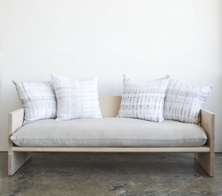 a modern daybed sofa handdyed shibori included
