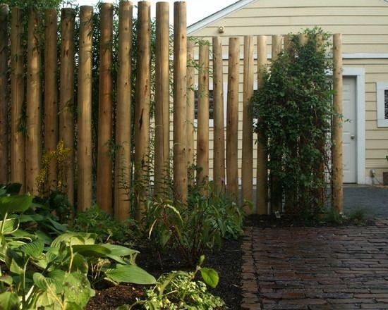 Zaun Sichtschutz Garten Gestalten Bambusröhre binden