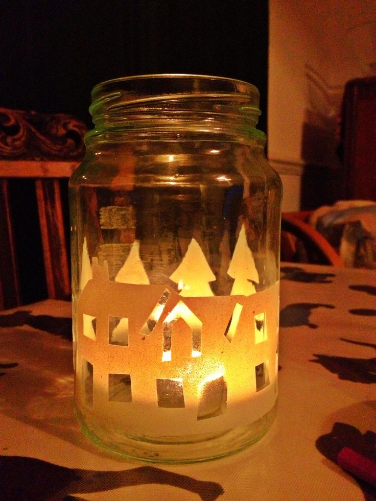 Recycled Jam Jar Christmas Lanterns Crafts Pinterest
