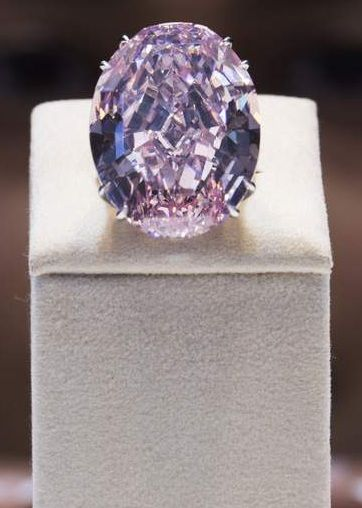 The Pink Star diamond: The flawless 59.60-carat pink diamond is the largest in its class ever graded by the Gemological Institute of America (GIA), with the second biggest less than half its size.