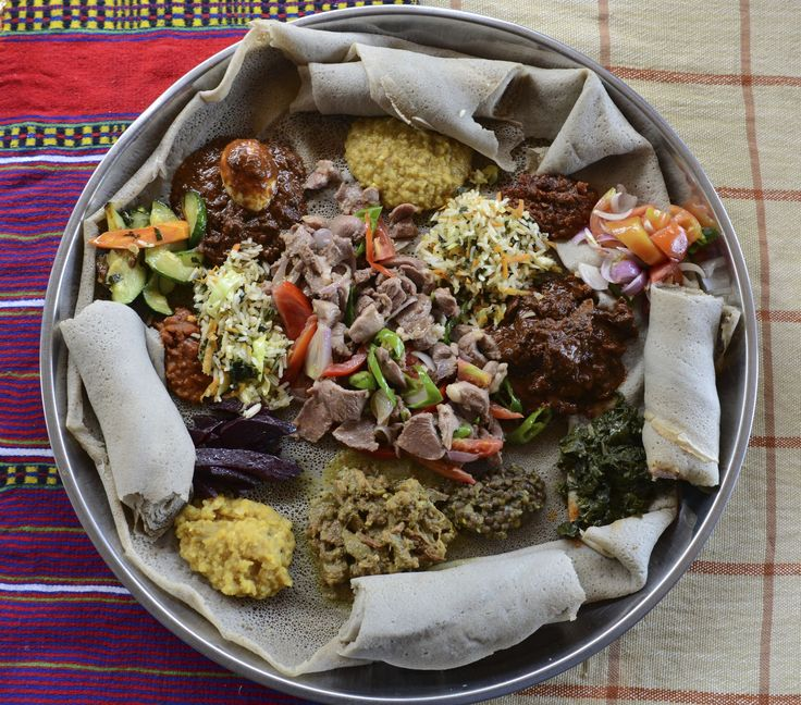 Around the world in 50 dishes Wat and injera (Ethiopia) A spongy bread known as injera filled with varieties of meat, vegetables, grains and rice, collectively known as wat.