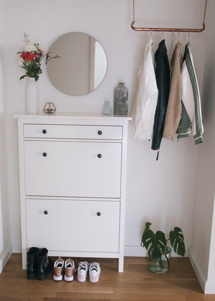 Flur Update – Skandinavische Einrichtung mit viel Weiß, Kupfer & frischen Feldblumen
