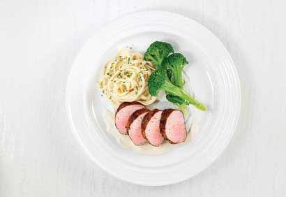Filets de porc, sauce dijonnaise