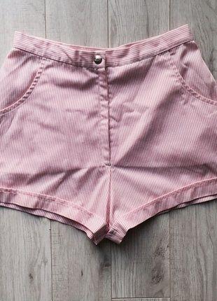 Kup mój przedmiot na #vintedpl http://www.vinted.pl/damska-odziez/szorty-rybaczki/15632033-szorty-z-wysokim-stanem-markowe-lacoste-w-pastelowe-paski-rozmiar-36