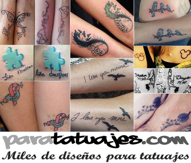 Ideas de Tatuajes para madre e hija  Para Tatuajes