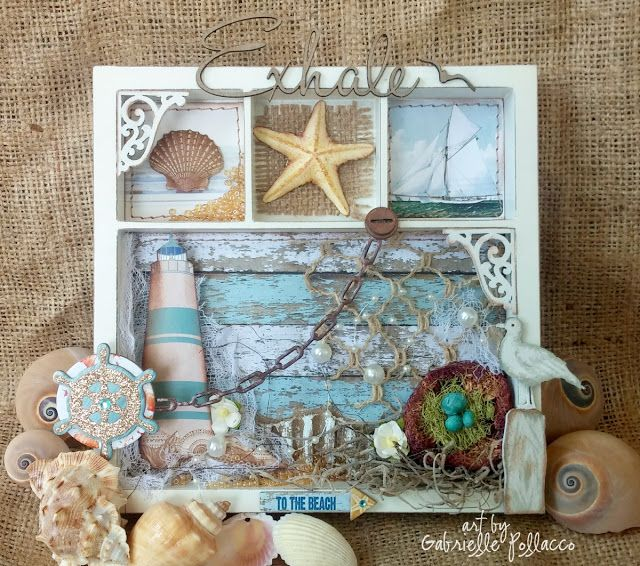 Nautical/Beach themed Wall Art {BoBunny - Boardwalk}