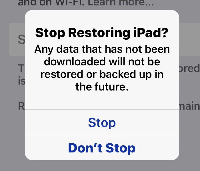How To Stop An Icloud Restore On Iphone Ipad Icloud Ipad Settings App