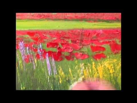 Igor Sakharov. Didacticiels vidéo. champ de coquelicots Nouvelle Bob Ross - YouTube