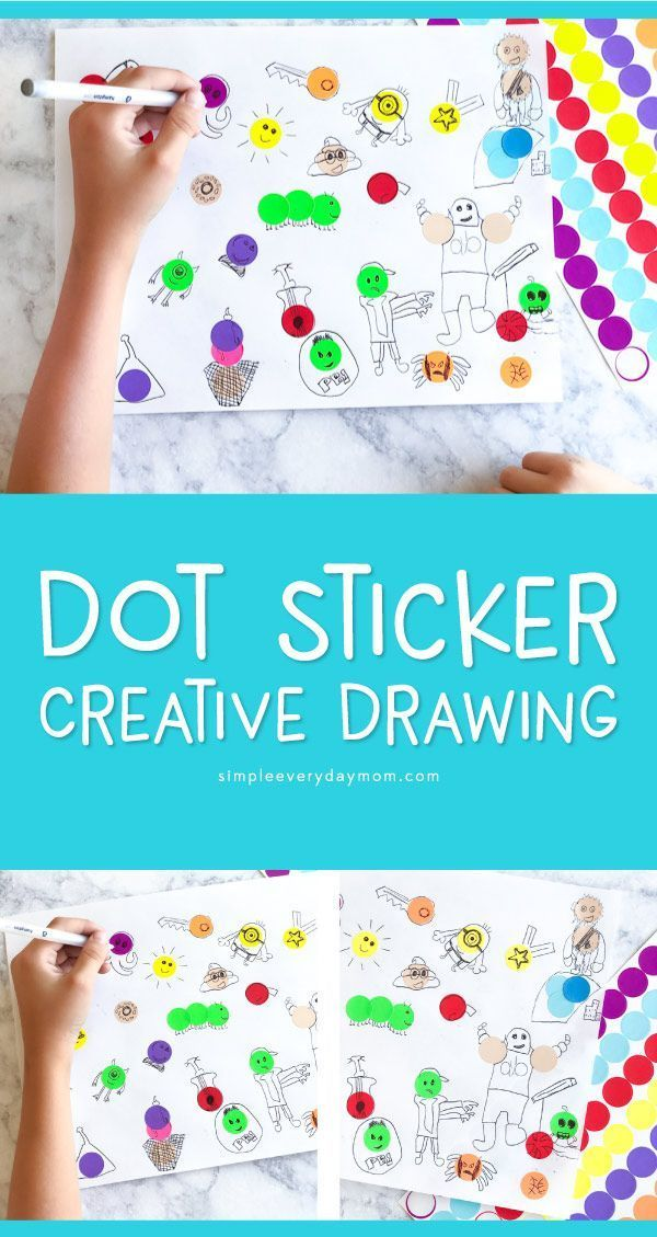 Dot Sticker Art Drawing For Kids Creative Play Drawing For Kids