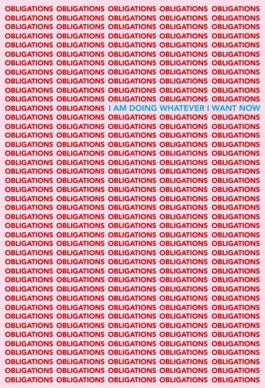 Tyler Spangler –Obligations / I am doing whatever I want now poster